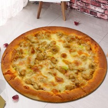 Food Pisahua printing flannel home Anti-Slip absorbent floor mat,Round mat