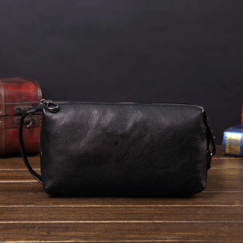 Weiche Leder männer Kupplung Tasche Große-kapazität Leder Handtaschen Business Casual Mode Neue Trend Taschen Männer Baumwolle Echtem leder