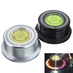 Leory 1 pçs 3in1 metal record clamp lp disco estabilizador plataforma giratória para o registro de vinil vibração balanceada ouro preto prata