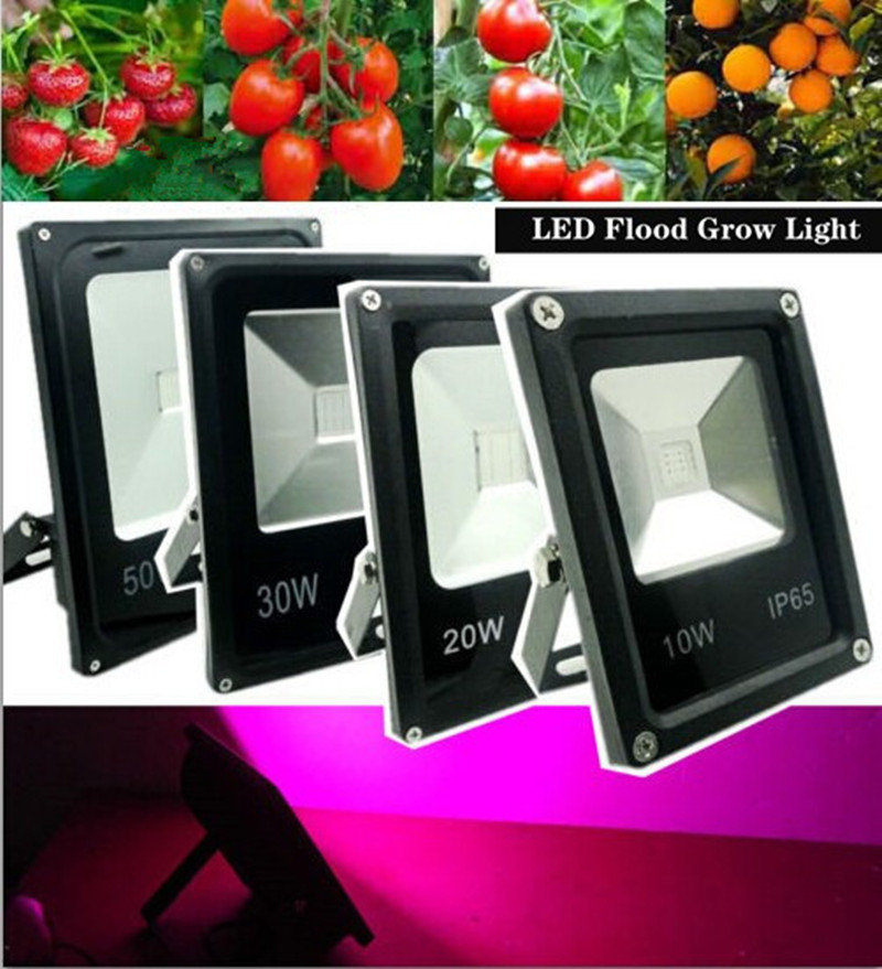 1pcs/lot 10W/20W/30W/50W IP65 Water-resistant Ultra-thin LED Flood Light Plant Grow Light Hydroponic Lamp For Outdoor/Indoor