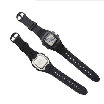 Gorąca sprzedaż miękki gumowy zegarek zespół szpilka ze stali nierdzewnej klamra Watchband dla Casio W-96H sport mężczyźni kobiety pasek bransoletki z narzędziami