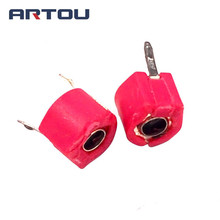 50PCS Variable Trimmer Capacitor Assorted Red Kit 20PF Diameter 6MM Adjustable Capacitor Set Pack