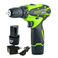 12v Cordless Screwdriver Rechargeable Electric Drill Mini Battery Drill Two Lithium Battery Tools Carton Package