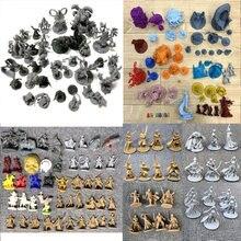 Lote monstros miniaturas zumbi para o jogo rpg figuras guerras modelo de jogo brinquedos