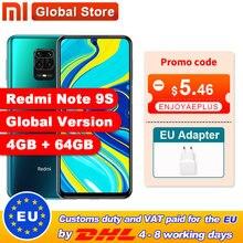 Global Version Xiaomi Redmi Note 9S 4GB 64GB/ 6GB 128GB Smartphone Snapdragon 720G Octa core 5020 mAh 48MP Quad Camera