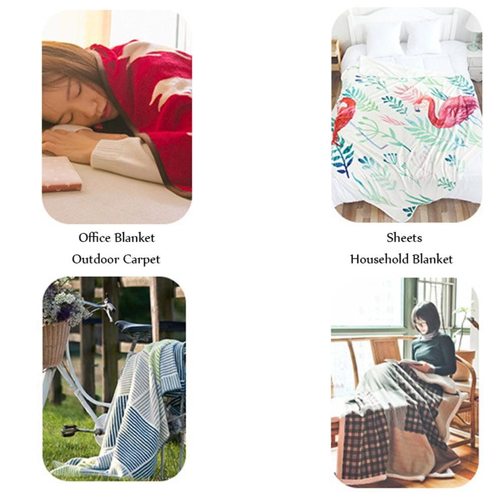 Custom Wolf Printed Throw Fleece Blanket Bedspread for Kids Girls Sofa Sherpa Blanket Couch Quilt DIY Design-5