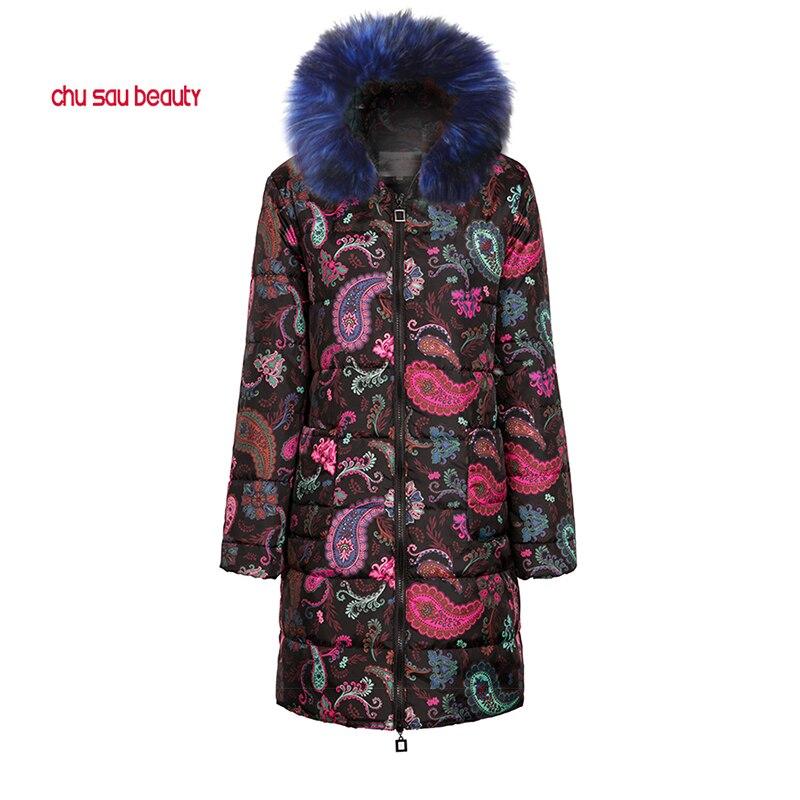 Veste d'hiver 2019 Hiver femmes col de fourrure sweatshirt à capuche Long Down Parkas Veste grande taille Longue À Capuche épais Parkas 4XL 5XL XXXL