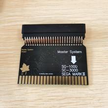SMS2SG1000 Sega מאסטר מערכת לסגת MARK III (יפן גרסה) SG 1000 SC 3000 מתאם SMS מתאם