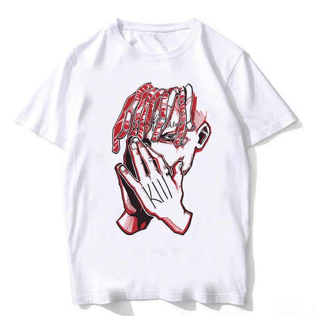 티셔츠 남자 힙합 XXXtentacion 그래픽 최고 품질 100% 코튼 S-XL 셔츠 남성 랩퍼 T 셔츠 그래서 나를 구해주세요 떨어지기 전에