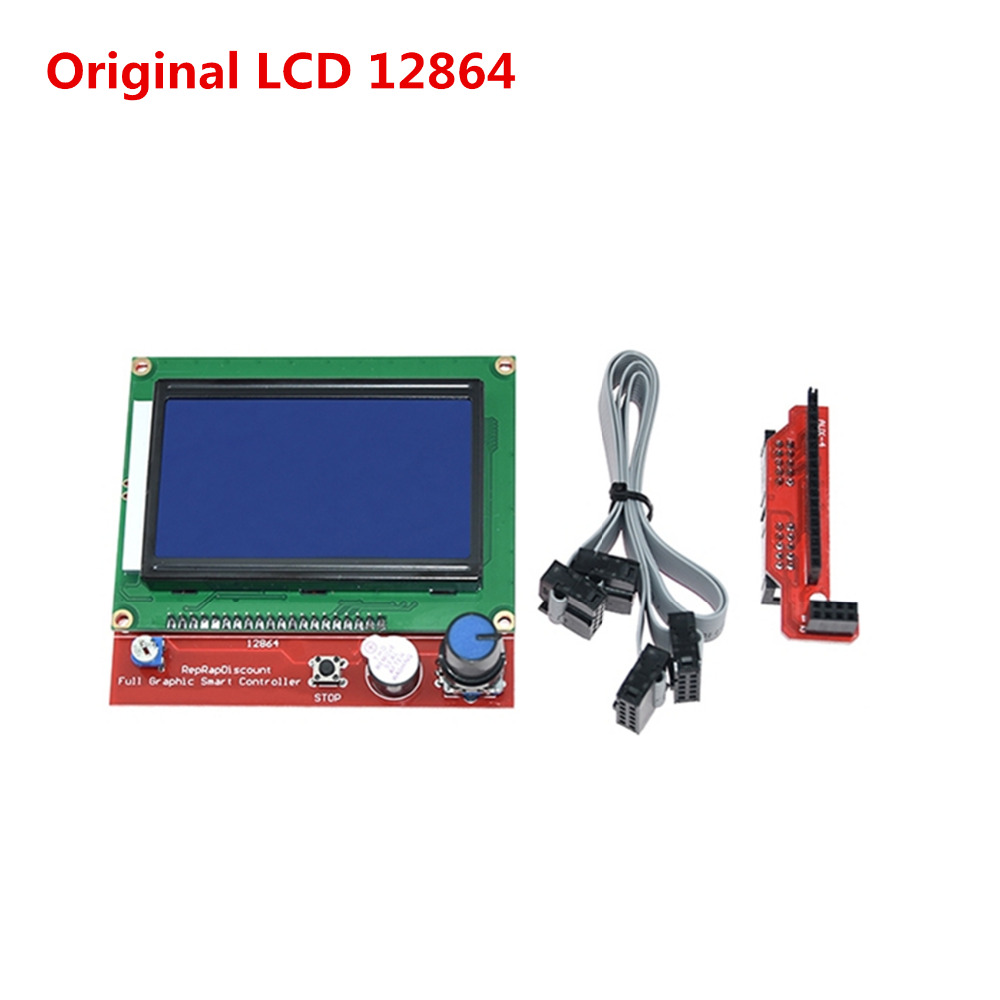 3D Printer Display LCD12864 Cpompatible Ramps1.4 Liquid Crystal Smart Controller Reprap 12864 Lcd For Circuit Board High Quality