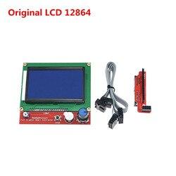 Wyświetlacz drukarki 3D LCD12864 cpopatible Ramps1.4 ciekłokrystaliczny inteligentny kontroler Reprap 12864 lcd do płytki drukowanej wysokiej jakości|Części i akcesoria do drukarek 3D|Komputer i biuro -