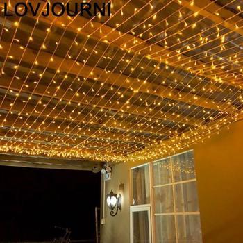 Decoration Lampki Choinkowe Cortina De Luci Natale Festoon Christmas Outdoor Holiday Luces Led Decoracion Birthday String Light