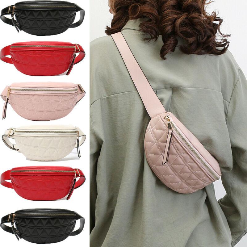 Retro Fashion Unisex Womens Men Waist Bag Fanny Pack PU Bag Belt Purse Small Purse Phone Key Pouch Red Black Waist Packs Gift
