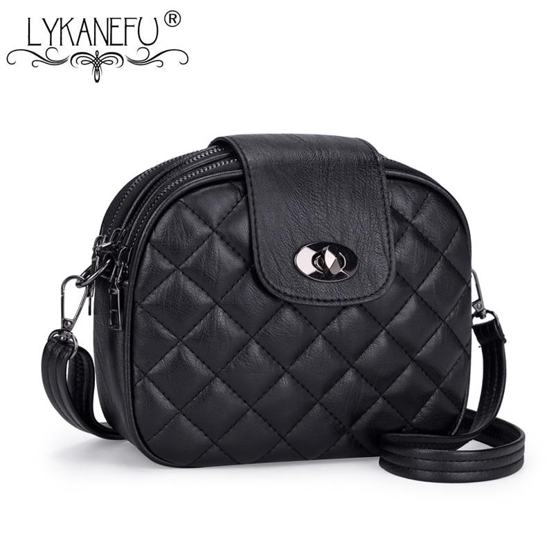 LYKANEFU Brand Soft Women Leather Bag Ladies Cross Body Bags Women's Shoulder Bags Small Ladies Handbags Designer Drop Shipping