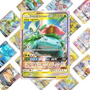 Image 2 - 새로운 도착 베스트 셀러 pokemons 카드 게임 전투 carte 25 50 100pcs 트레이딩 카드 게임 키즈 완구