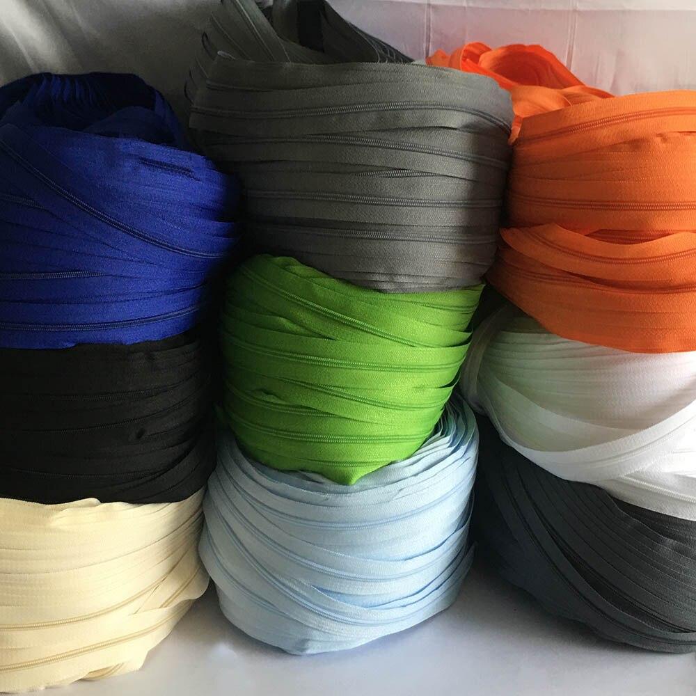 3 ~ 10 метров застежка-молния #3 Стёганое одеяло нейлоновые молнии катушки застежки-молнии для шитья оптовая продажа Швейные Ремесло Ziper засте...