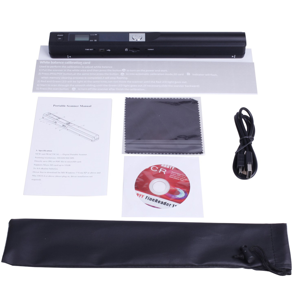 Instant Portable Scanner 900DPI LCD Display For JPG/PDF Format Document Image GK99