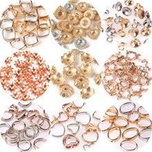 50 300 500 stücke CCB Charme Spacer Perlen Gold Silber Farbe Stern Blume End Caps Perlen Für DIY Schmuck Machen liefert Zubehör