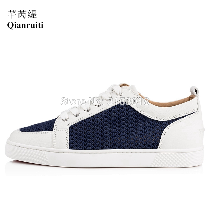 New men Vulcanized shoes two tone mesh wool woven breathable deodorant lace up  shoes fashion men