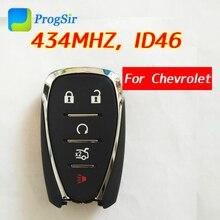 Оригинальный оригинальный 5 кнопочный 433 МГц пульт дистанционного управления 13508769 для Chevrolet Camaro Cruze Malibu с чипом PCF7937E Hitag2 ID46