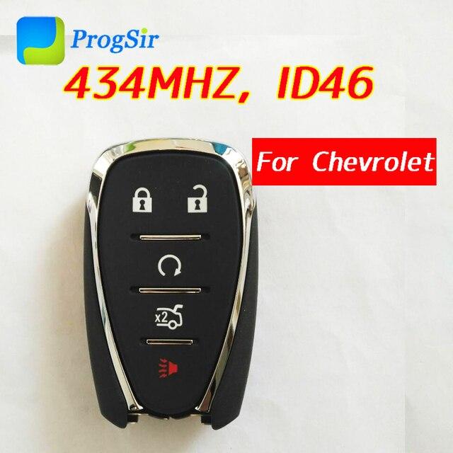 Mando a distancia Original de 5 botones, 433MHz, para Chevrolet Camaro Cruze Malibu con Chip PCF7937E Hitag2 ID46