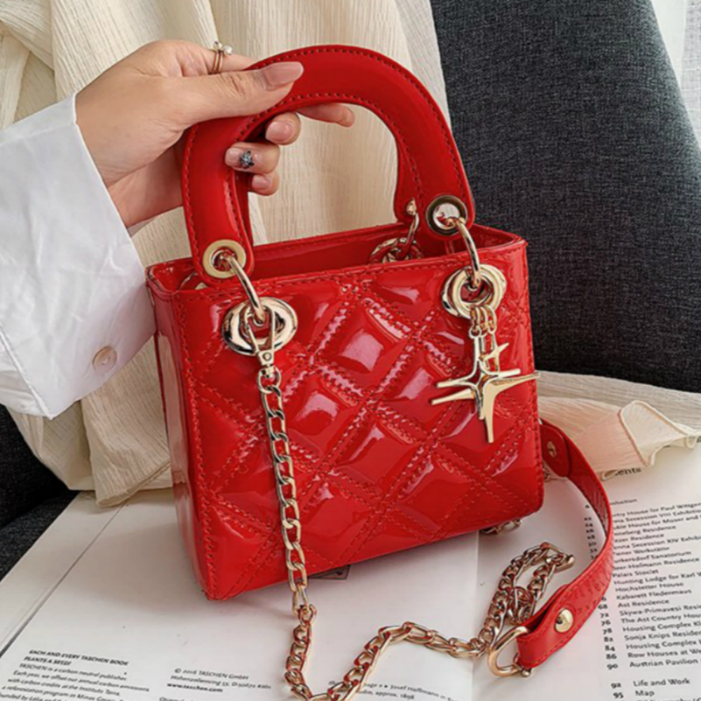 Quality Chain Strap Female Shoudler Bags Small Patent Leather Women Handbags Casual Ladies' Messenger Crossbody Flap Bags Sac