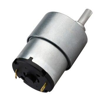 Reductor de engranajes de metal 12V DC motorreductor de alta Motor de torsión 80rpm relación de reducción 1: 90 Motor Gm37-3525 Motor componente electrónico