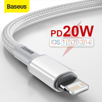 Baseus 20W USB C Cable for iPhone 12 11 Pro Max XR 8 PD Fast Charging for iPhone Charger Cable for MacBook iPad Pro Type C Cable