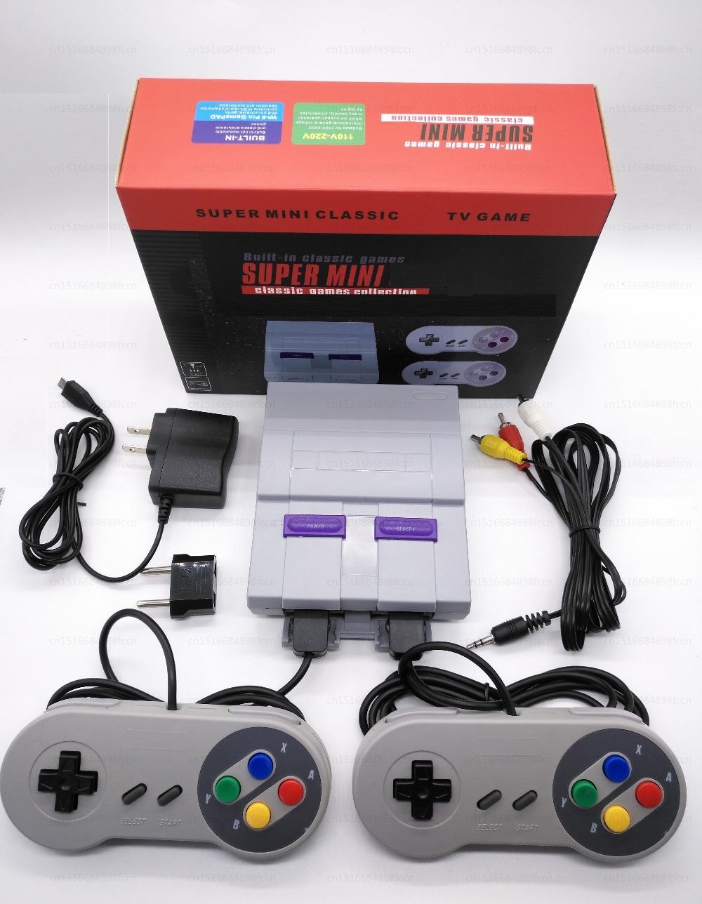 For Snes 16 Bit Games   Retro Mini TV Video Game Console with 94 Built-in Different 16 Bit Games For Snes Two Gamepads AV Out