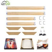 Cadre de Photo mural en bois naturel, barre pour toile, Kit de bricolage d'huile, cadre en bois de grande taille, cadre de peinture artistique, fourniture d'usine