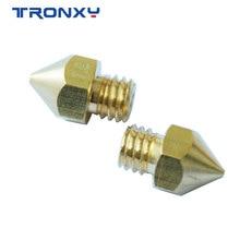Tronxy 1pc mk8 m6 bocal 0.2 0.3 0.4 0.5 0.6 0.8 1.0mm j-head bocal de extrusão 1.75mm filamento 3d impressora de bronze bocal de cobre