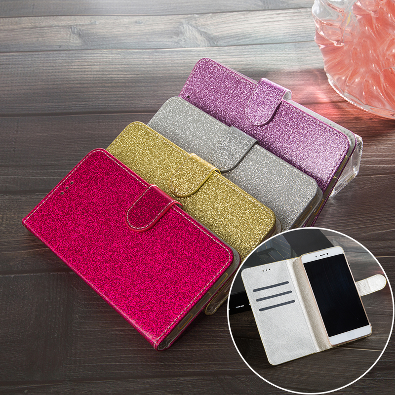 Glitter Leather Phone <font><b>Case</b></font> Cover For <font><b>Sony</b></font> Xperia Z1 Z2 <font><b>Z4</b></font> Z3 Z5 Compact XA XA1 XA2 XP L1 L2 XZ XZ1 Compact E3 E4 <font><b>Flip</b></font> <font><b>Case</b></font> image