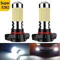 2X Автомобильные противотуманные фары 5202 светодиодный лампы для Toyota CHR RAV4 Camry Corolla налобный фонарь светодиодный H7 H11 H8 H9 Hb3 Hb4 9005 9006 Автомобильн...