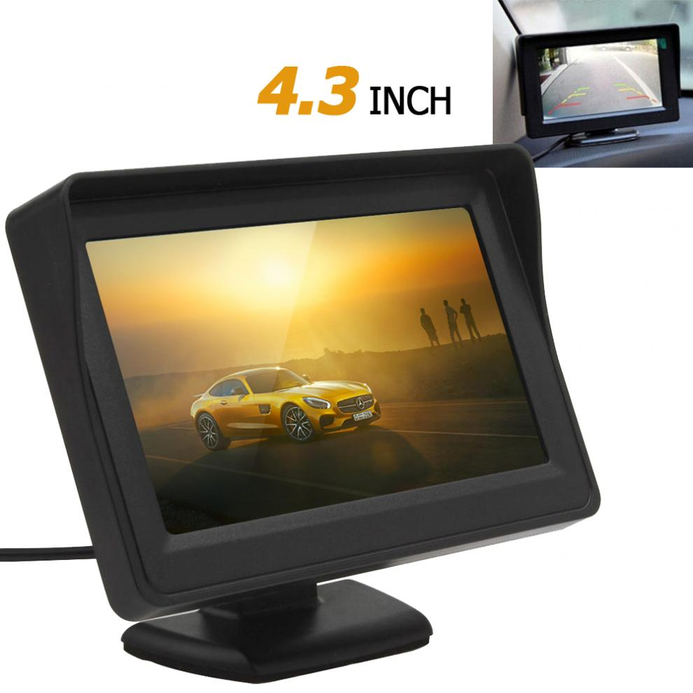 4.3 Inch 480x272 TFT LCD Digital Panel Car Rear View Monitor Support 2-Channel Video Input image