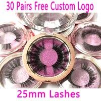 30Pairs/lot 25mm Lashes 3DMink Eyelashes Criss cross Eyelashes Cruelty Free Volume Mink Lashes Dramatic Eye lashes Makeup Tools