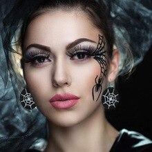 2019 Vintage PU Halloween Witch Skeleton Women Big Dangle Drop Earrings Pendientes Fashion Jewelry Accessories Wholesale-LYD-W4