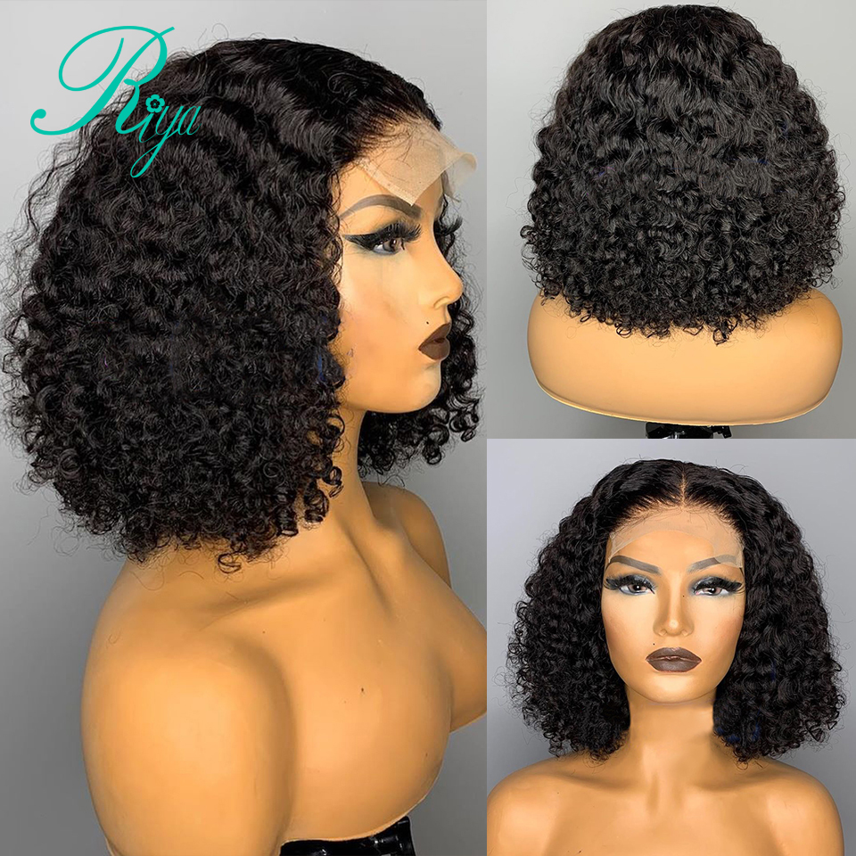 4x4 encerramento peruca com o cabelo do bebê 150% pixie curto em linha reta bob corte blunt fechamento do laço perucas de cabelo humano para preto feminino remy indiano