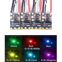 SKYSTARS de alta calidad BLHeli_32 poco 50A 3-6 S CES LED incorporado apoyo Dshot1200 Multishot para FPV Drone RC Drone