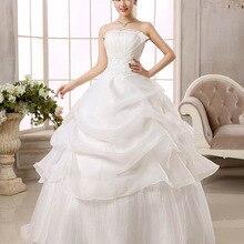 Women Wedding Dress Ball Gowns Large Size Flower Bride Strap Wedding Dresses Lace Up