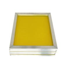 1Pc 120t maille réutilisable en aluminium sérigraphie cadre 27x39cm avec maille jaune 300TPI pour faire pochoir