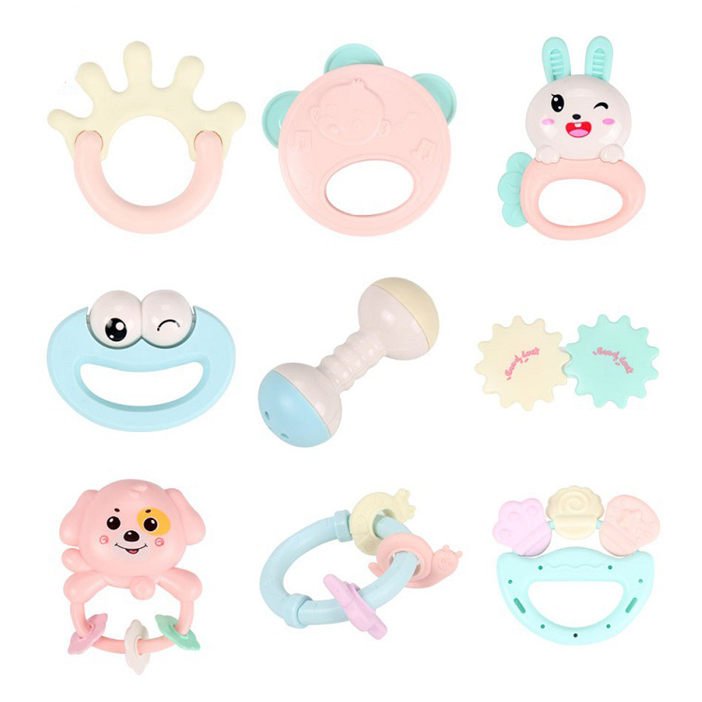 Baby Toys Hand Hold Jingle Shaking Bell Lovely Hand Shake Bell Ring Baby Rattles Toys Newborn Baby 0- 12 Months Teether Toys