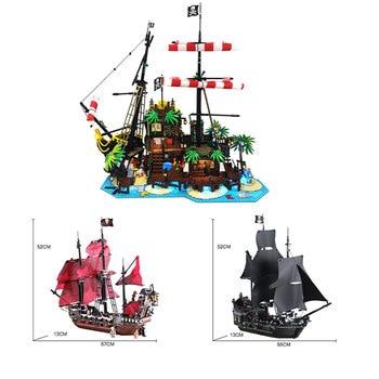 New Ideas lepining Pirates of Barracuda Bay 21322 4184 4195 ship Blocks Bricks lepinblocks Blocks Toys Kids Birthday Gift