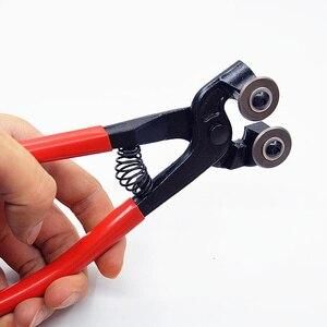 Image 4 - Pince de découpe professionnelle mosaïque à lames rondes à Double roue pour carrelage de verre, outils de Construction de coupe de bricolage