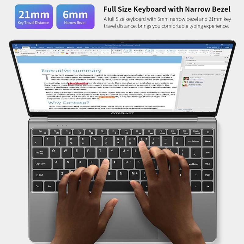 lowest price Teclast F7S Laptop 14 1inch Full HD 1920x1080 IPS Notebook 8GB RAM 128GB EMMC Laptops Bluetooth Wifi Apollo Lake N3350 Computer