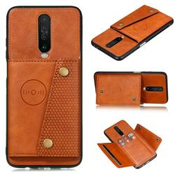 На Алиэкспресс купить чехол для смартфона vintage leather phone cases for redmi k30 5g racing edition magnetic attraction case for redmi k30 cover with card slot stand