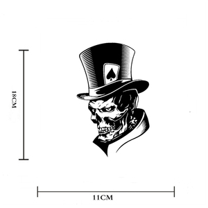 Image 2 - 1PC Funny Joker Skull Computer Stickers PET Reflective Laptop Skin Vinyl Sticker Moto Car Bumpuer Suitcase Decoration Sticker