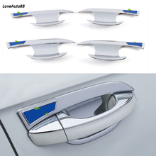 Car ABS Chrome handle Protective Cover Door Handle Outer Bowls Trim For Volkswagen VW T-Roc T ROC 2017 2018 2019 Accessories