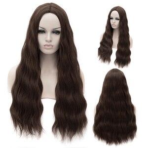 Image 5 - MSIWIGS волнистые синтетические парики для белых, черных женщин, длинные, зеленые, средние линии, красный парик для косплея, термостойкие Розовые розы, сетка
