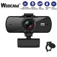 Wsdcam-cámara Web Para Ordenador 2K, 2040x1080P, Webcam con micrófono para transmisión en vivo, videollamadas, cámara de trabajo en conferencia, PC