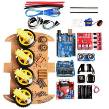Avoidance Tracking Motor Robot Chassis Slimme Auto Kit 4WD Ultrasone Voor Arduino Easy Start/Stop Modules Accessoire Duurzaam Remote